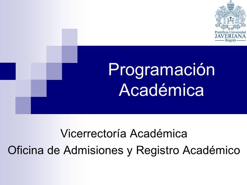 Programación Académica