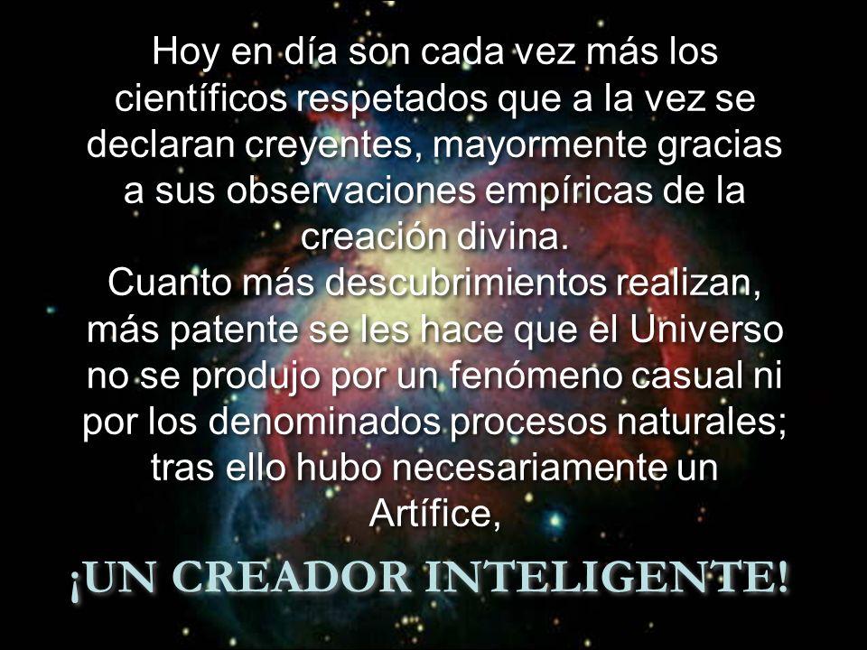 ¡UN CREADOR INTELIGENTE!