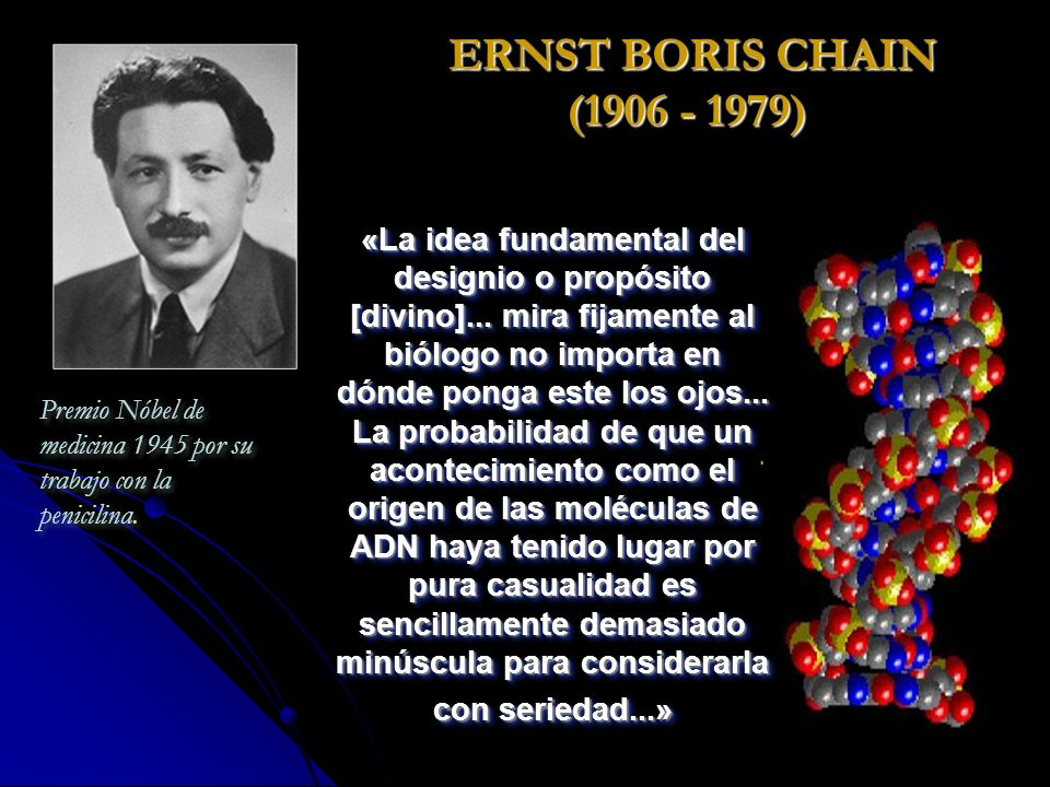 ERNST BORIS CHAIN (1906 - 1979)