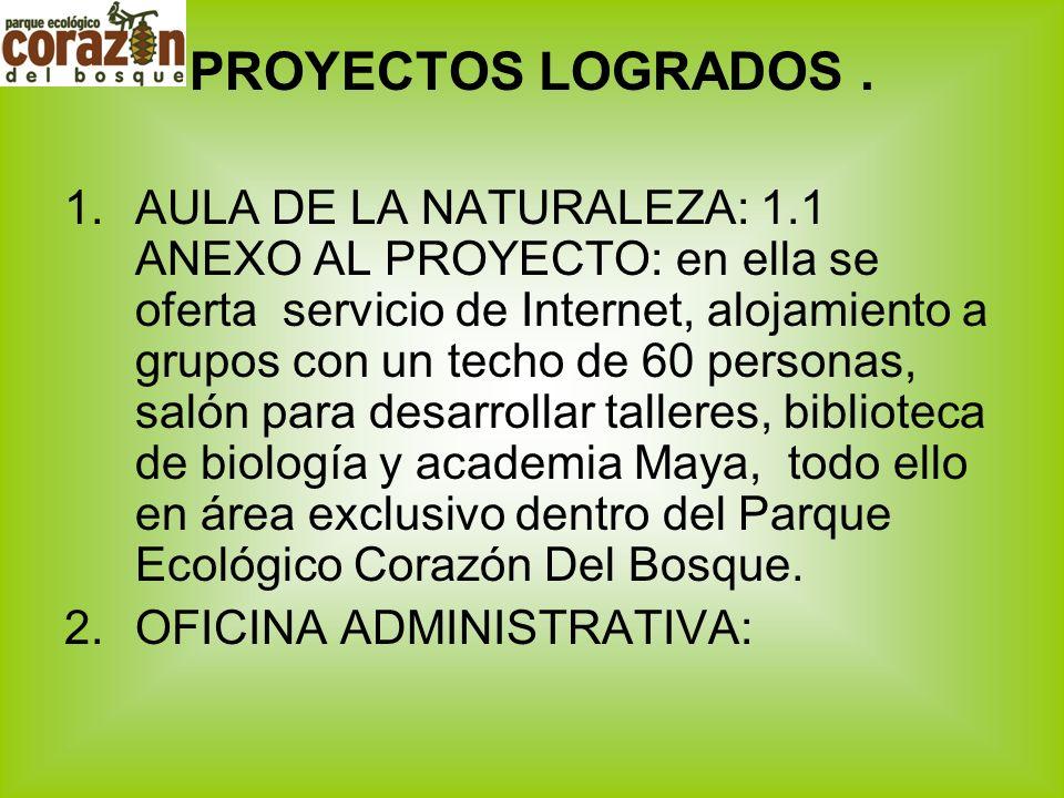 PROYECTOS LOGRADOS .
