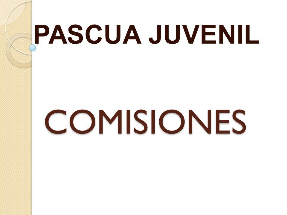 PASCUA JUVENIL COMISIONES