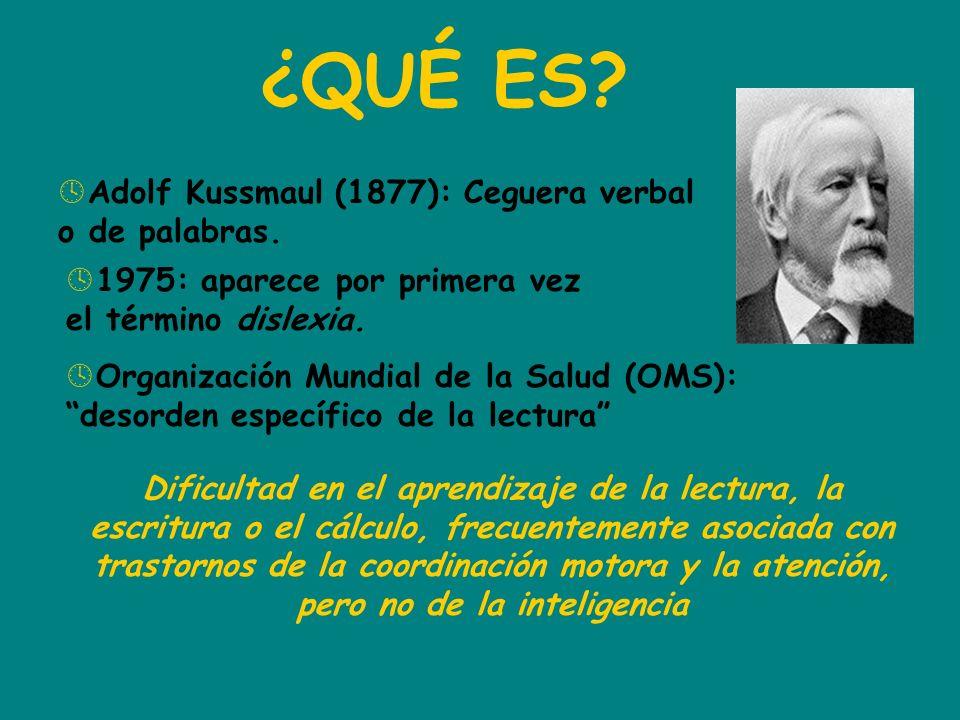 ¿QUÉ ES Adolf Kussmaul (1877): Ceguera verbal o de palabras.
