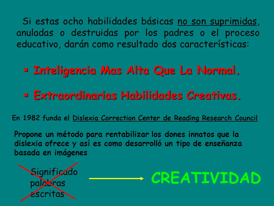 CREATIVIDAD Inteligencia Mas Alta Que La Normal.