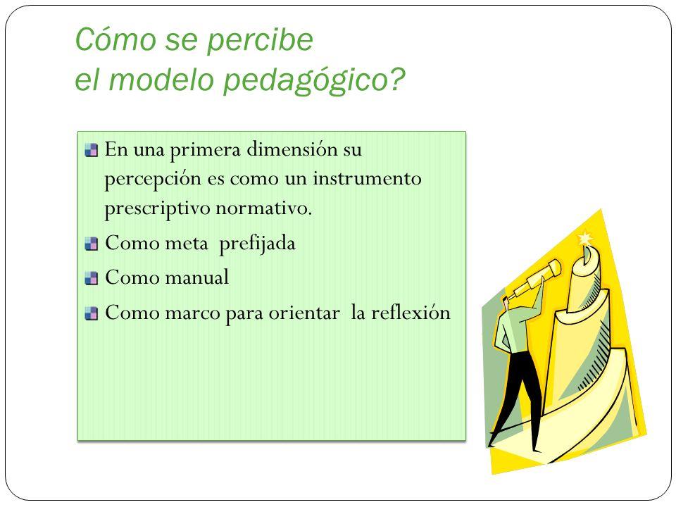 Cómo se percibe el modelo pedagógico