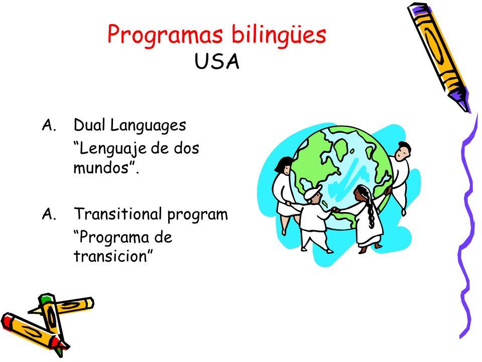 Programas bilingües USA