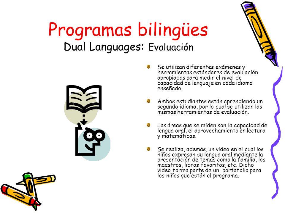 Programas bilingües Dual Languages: Evaluación