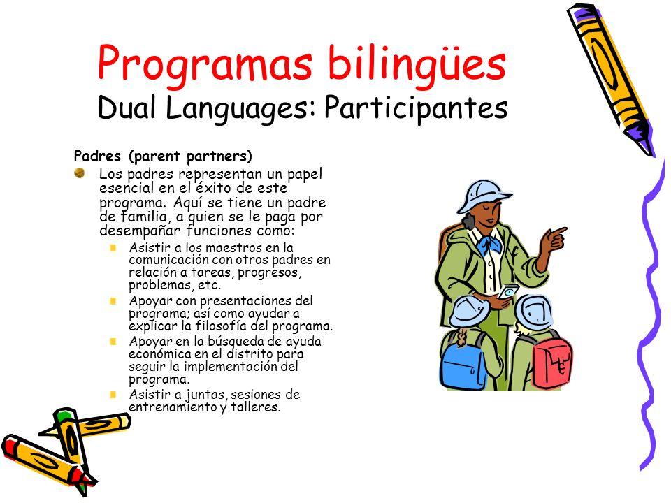 Programas bilingües Dual Languages: Participantes
