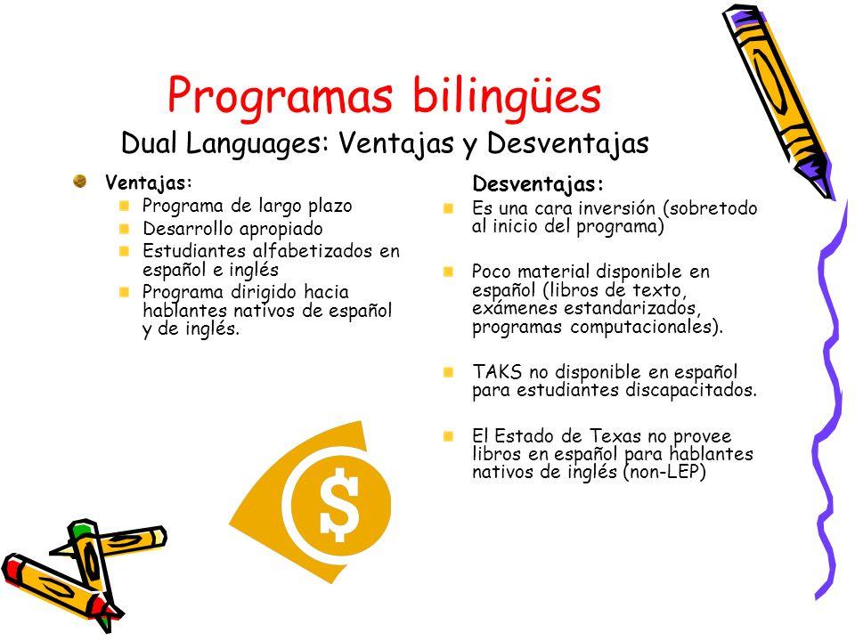 Programas bilingües Dual Languages: Ventajas y Desventajas