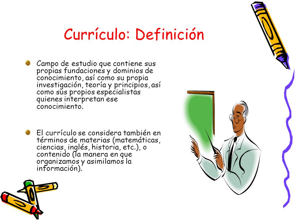 Currículo: Definición