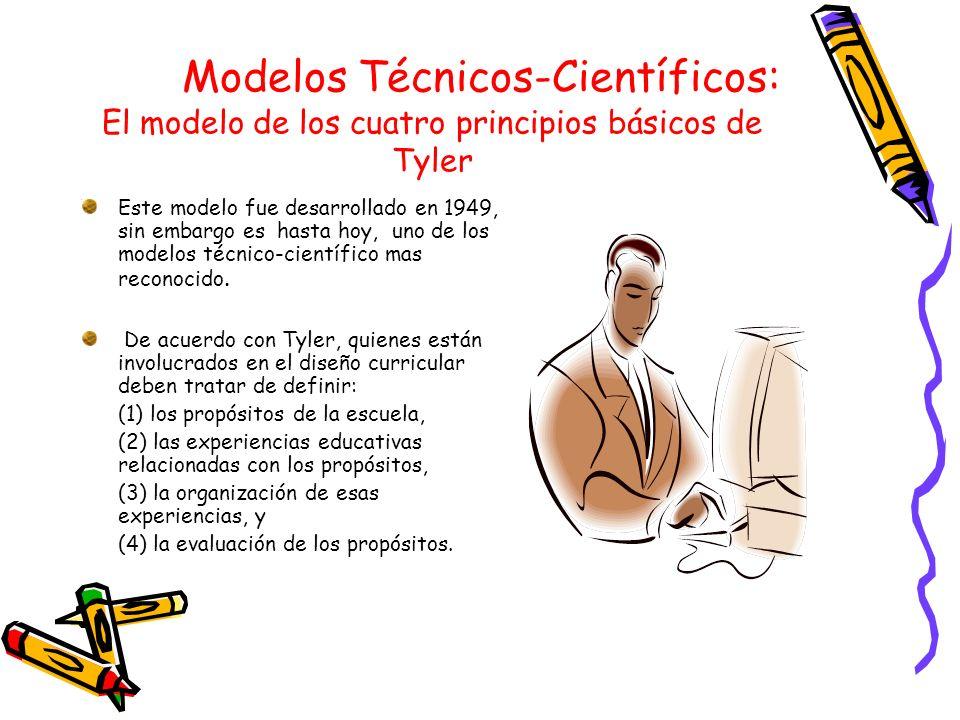 Modelos Técnicos-Científicos: El modelo de los cuatro principios básicos de Tyler