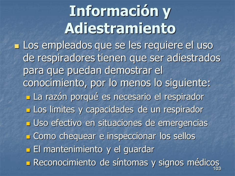 Información y Adiestramiento