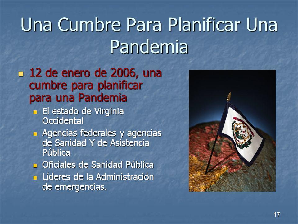 Una Cumbre Para Planificar Una Pandemia