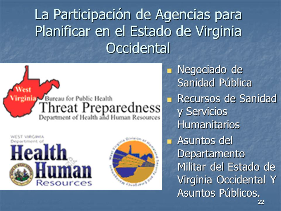 La Participación de Agencias para Planificar en el Estado de Virginia Occidental
