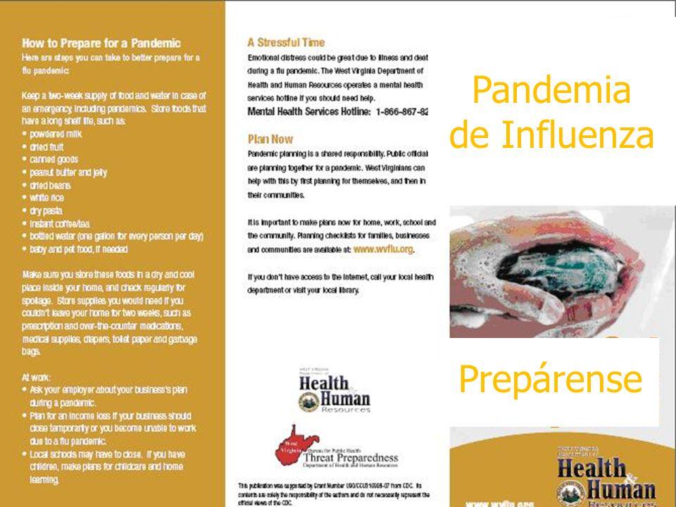 Pandemia de Influenza Prepárense