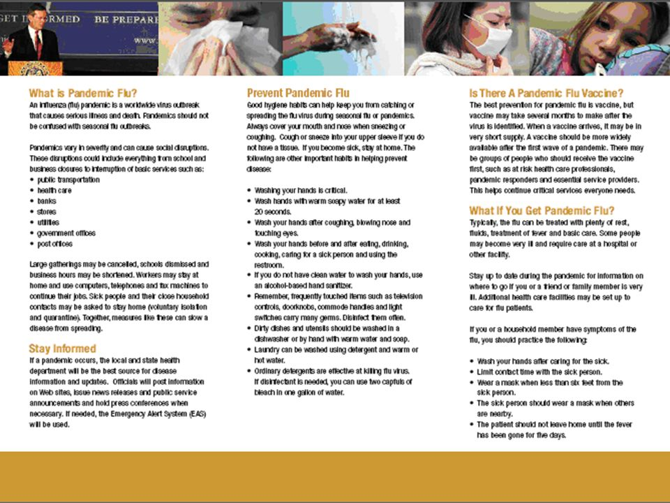 WV Pandemic Flu Brochure