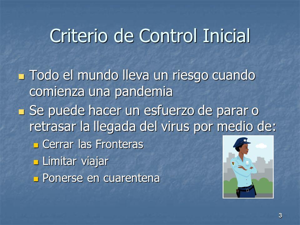 Criterio de Control Inicial