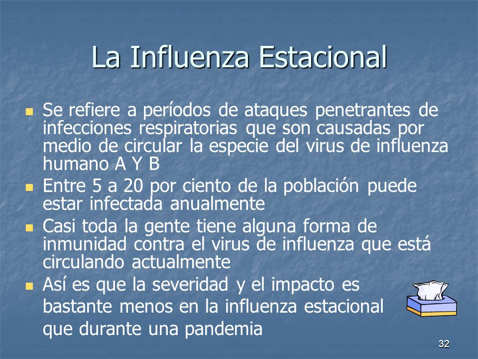 La Influenza Estacional
