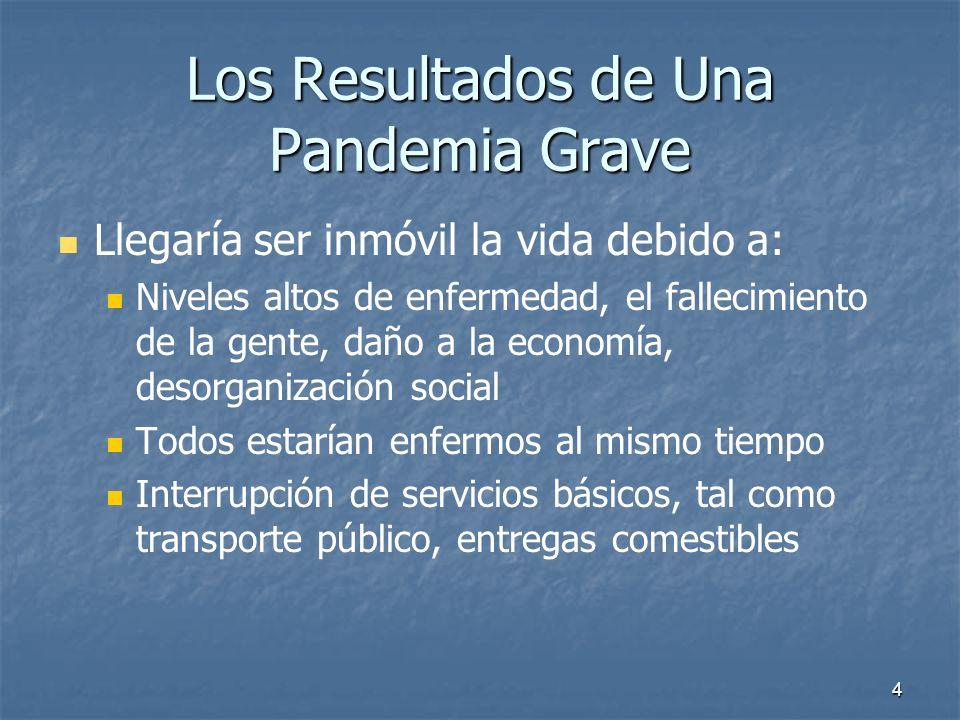 Los Resultados de Una Pandemia Grave