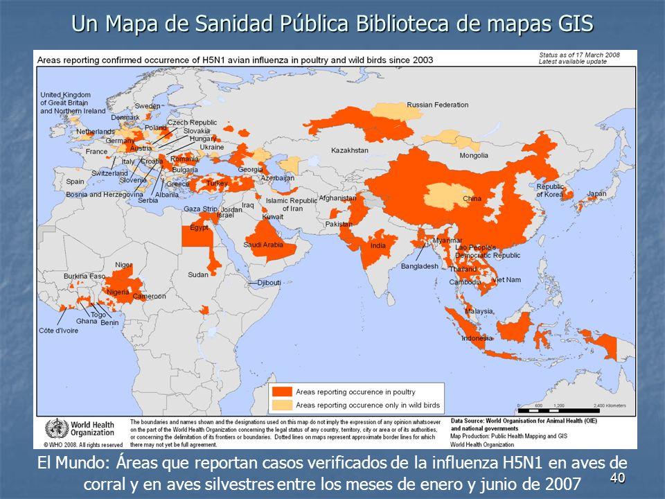 Un Mapa de Sanidad Pública Biblioteca de mapas GIS