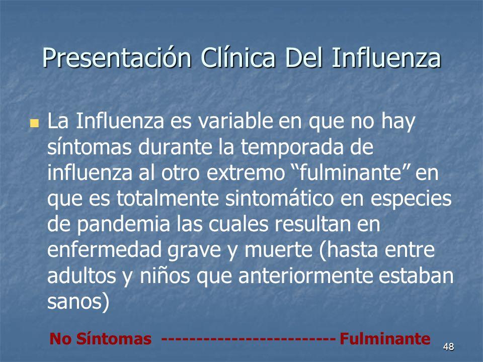 Presentación Clínica Del Influenza