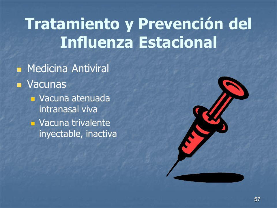 Tratamiento y Prevención del Influenza Estacional