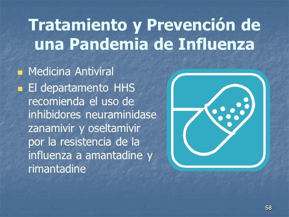 Tratamiento y Prevención de una Pandemia de Influenza