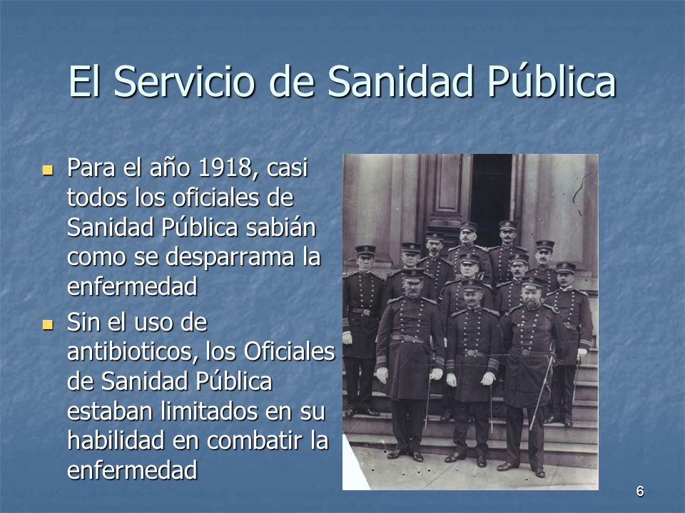 El Servicio de Sanidad Pública