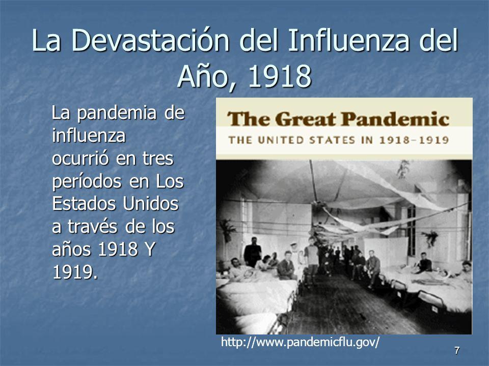 La Devastación del Influenza del Año, 1918