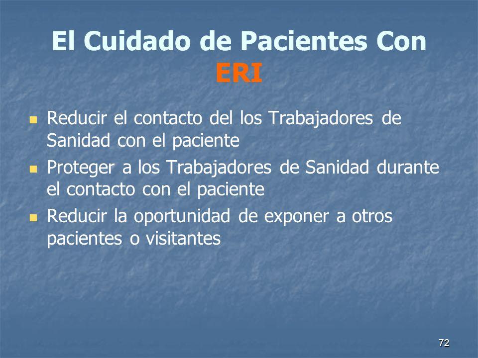 El Cuidado de Pacientes Con ERI