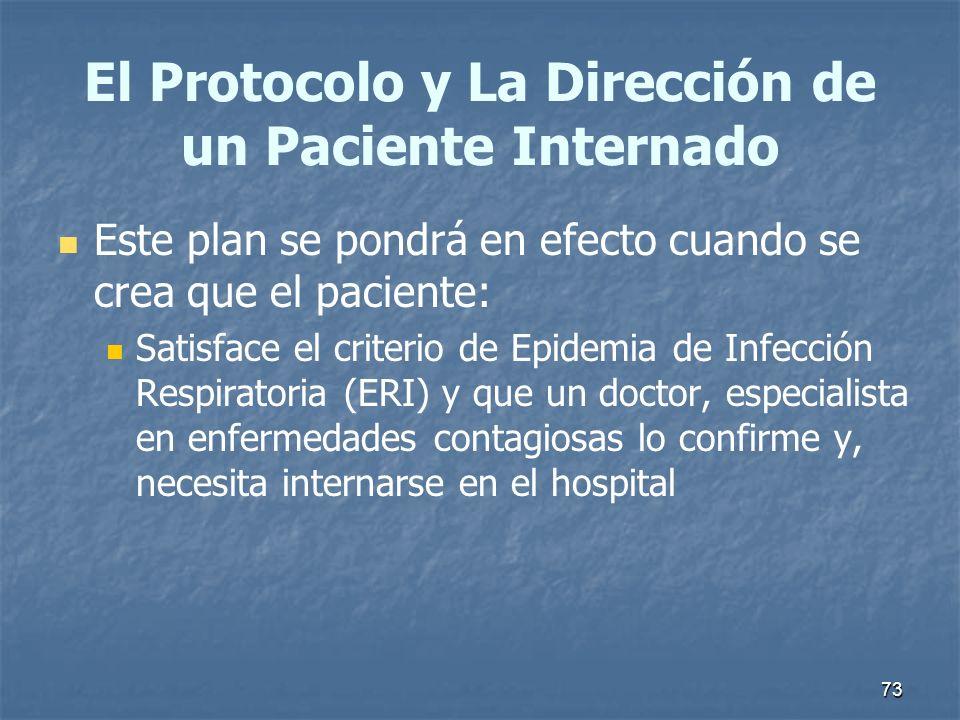 El Protocolo y La Dirección de un Paciente Internado