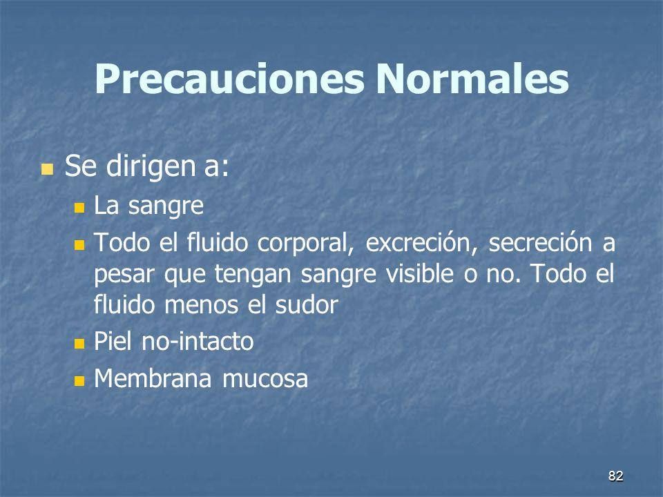 Precauciones Normales