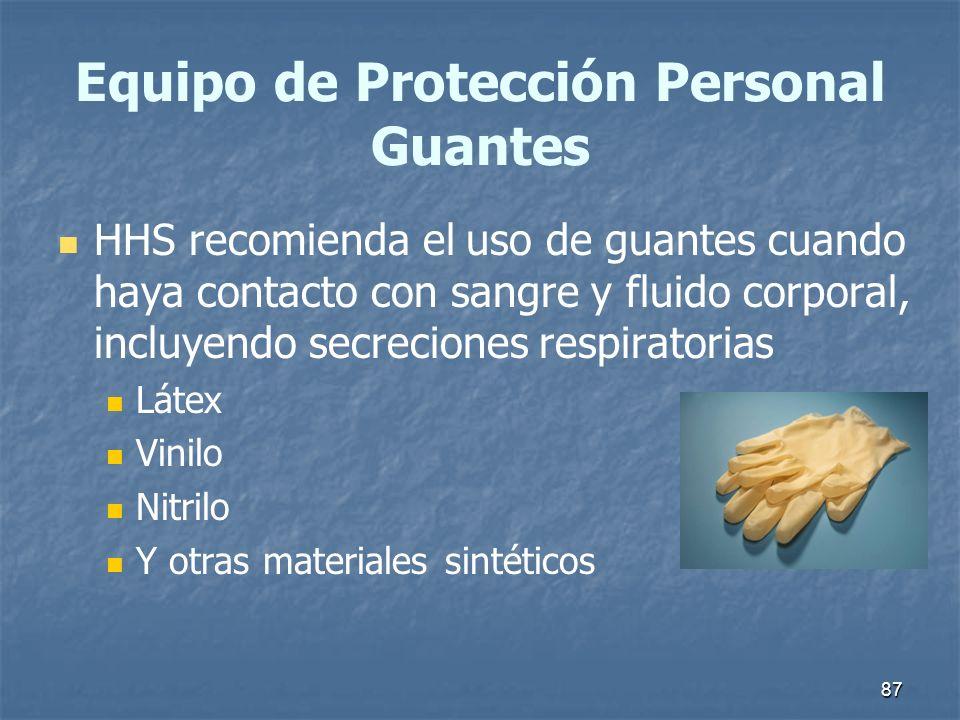 Equipo de Protección Personal Guantes