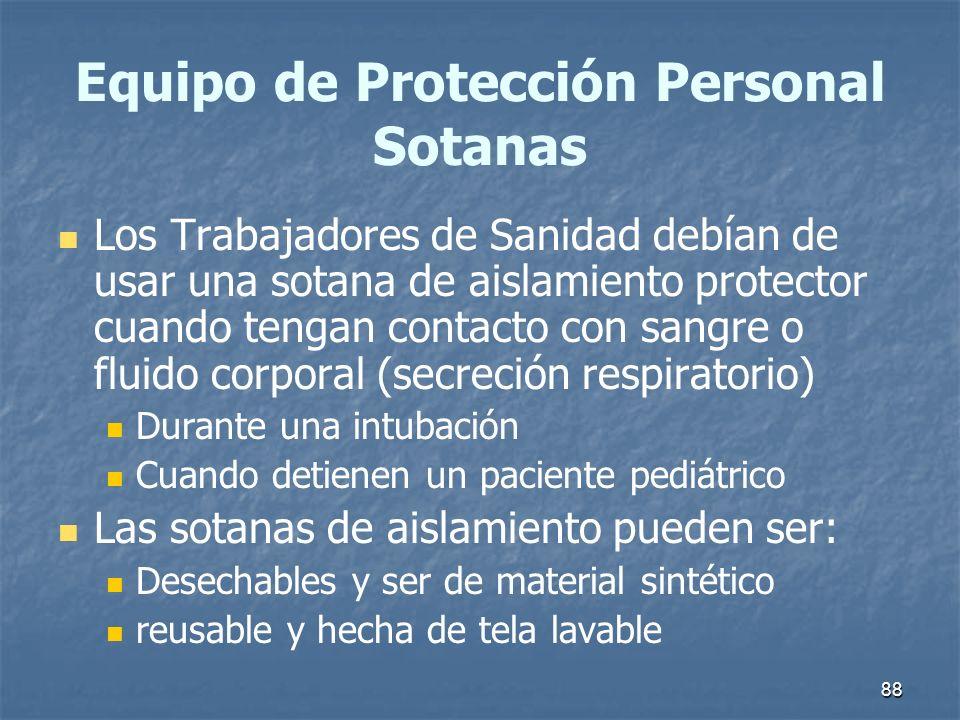Equipo de Protección Personal Sotanas
