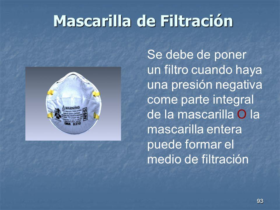 Mascarilla de Filtración