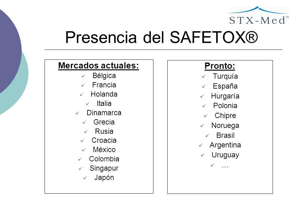 Presencia del SAFETOX®