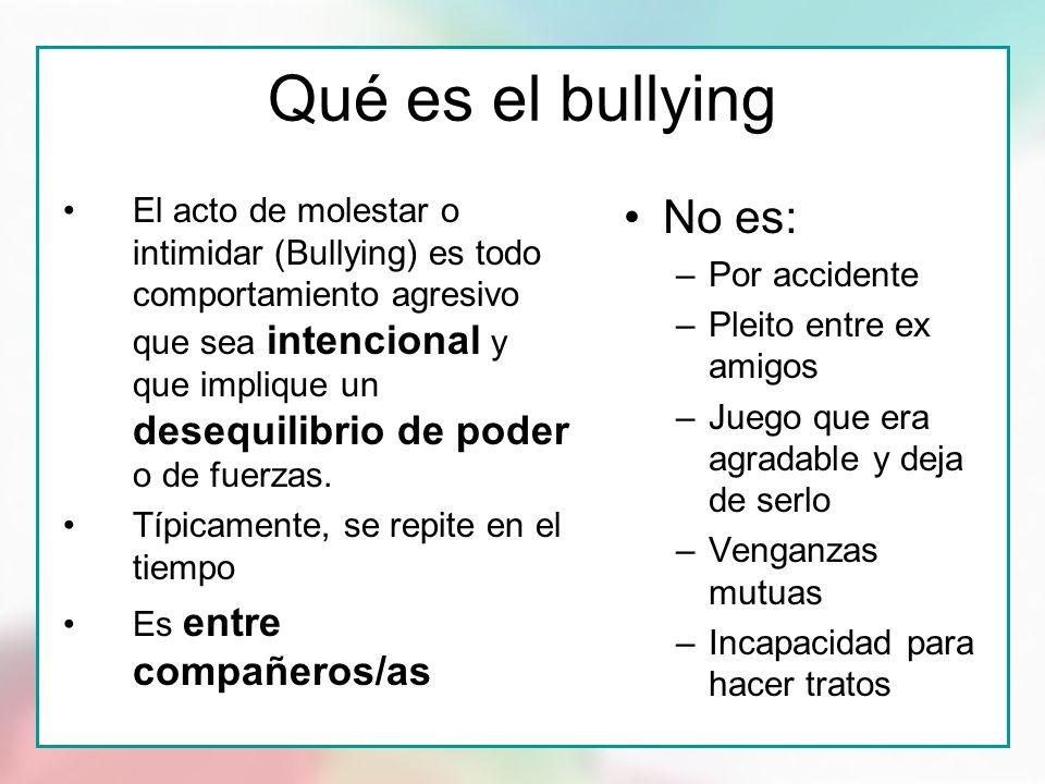Qué es el bullying No es: