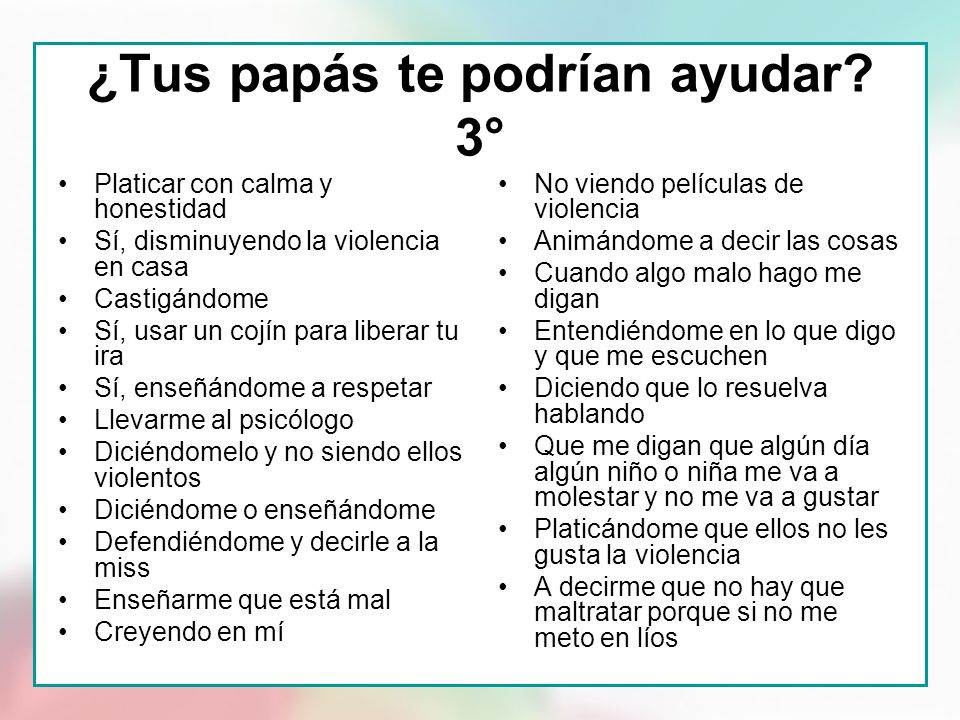 ¿Tus papás te podrían ayudar 3°