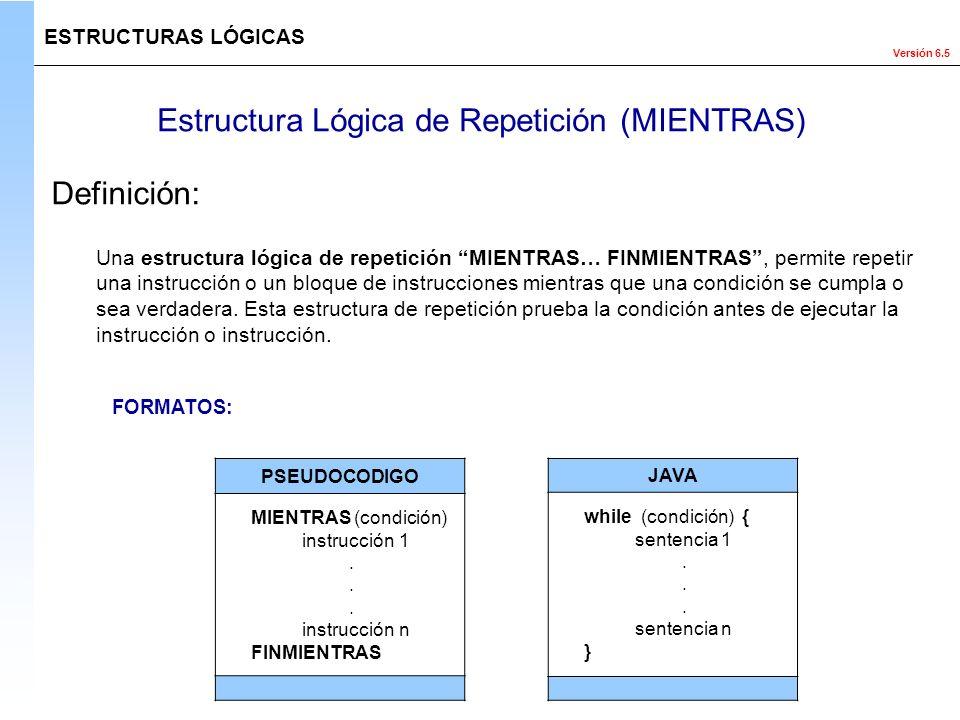 Estructura Lógica de Repetición (MIENTRAS)