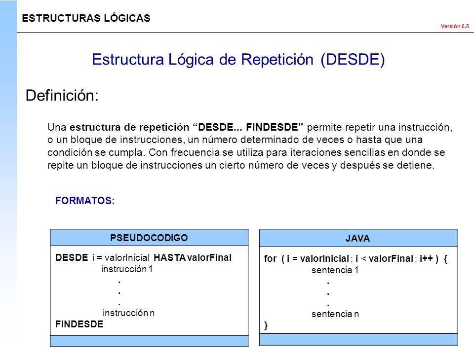 Estructura Lógica de Repetición (DESDE)