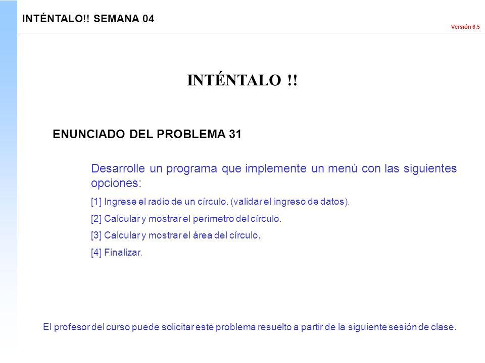INTÉNTALO !! ENUNCIADO DEL PROBLEMA 31