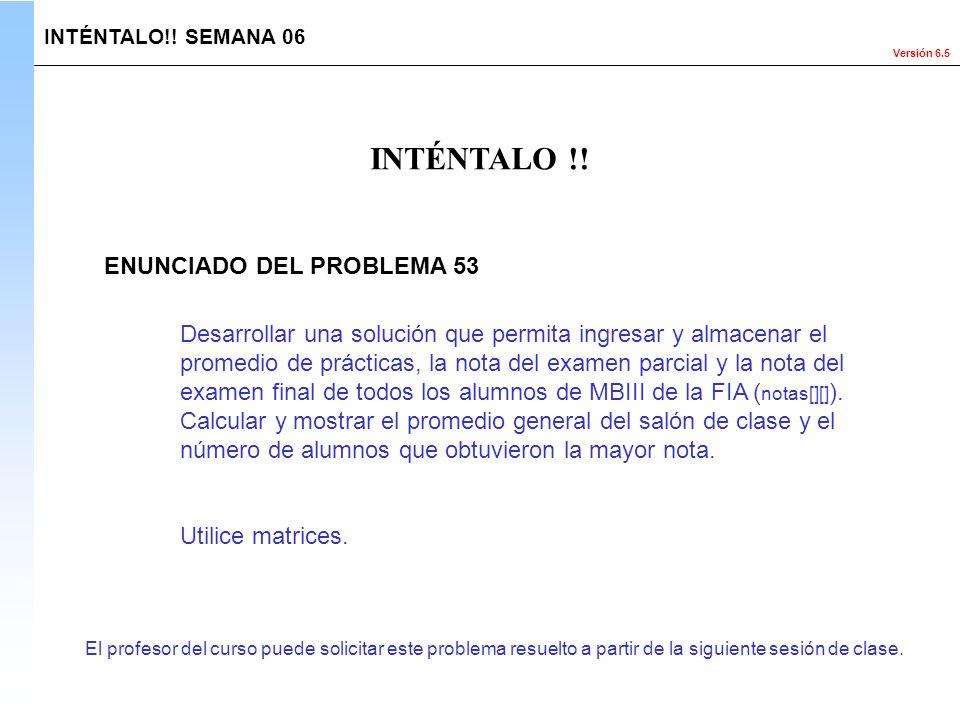 INTÉNTALO !! ENUNCIADO DEL PROBLEMA 53