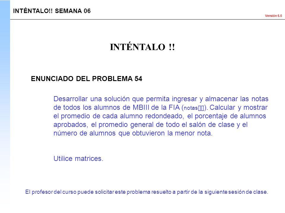 INTÉNTALO !! ENUNCIADO DEL PROBLEMA 54