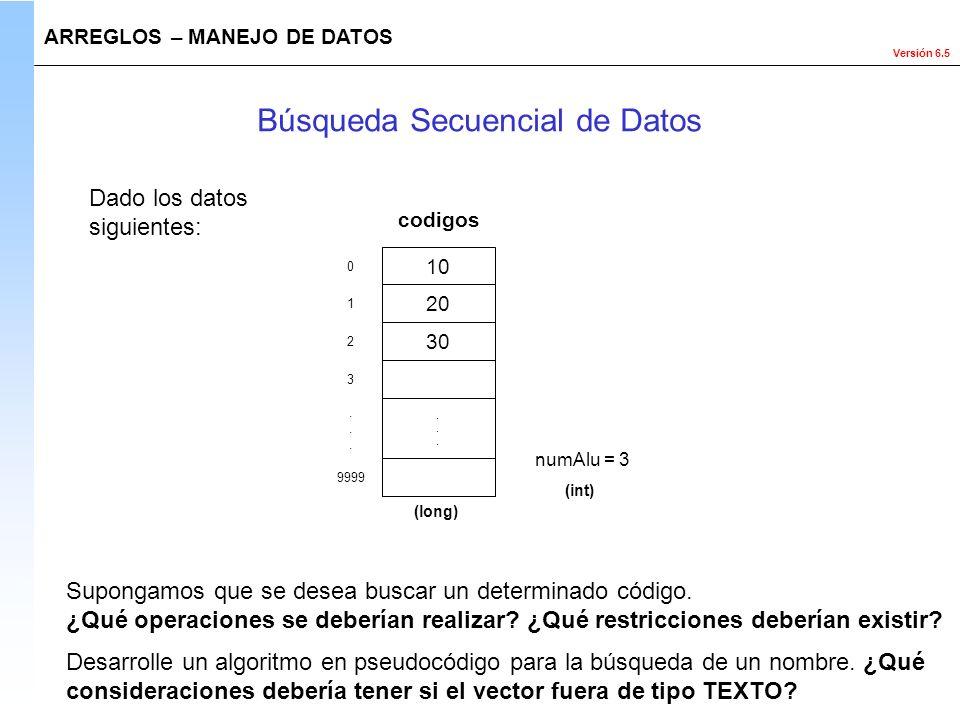 Búsqueda Secuencial de Datos