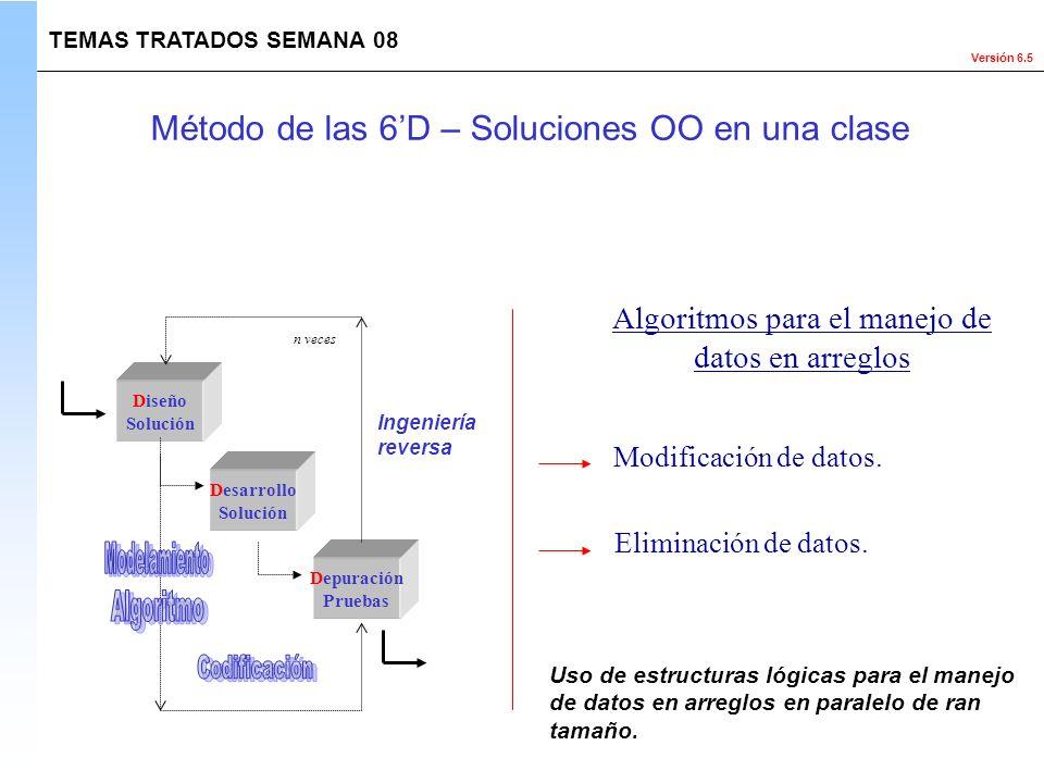 Método de las 6'D – Soluciones OO en una clase