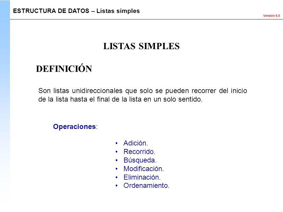 LISTAS SIMPLES DEFINICIÓN