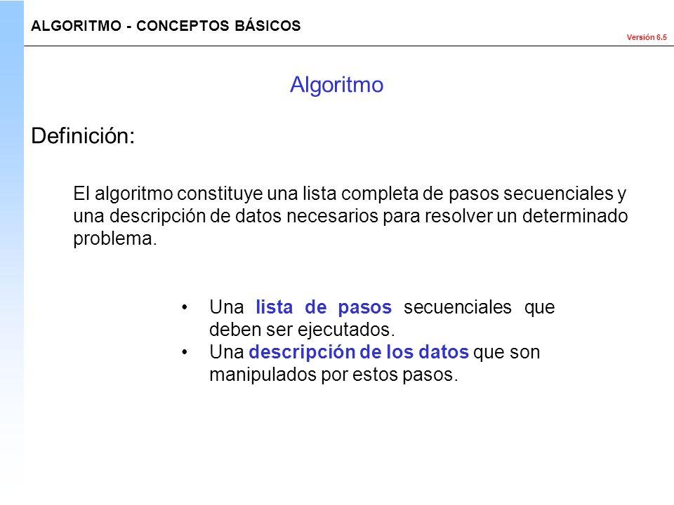 Algoritmo Definición: