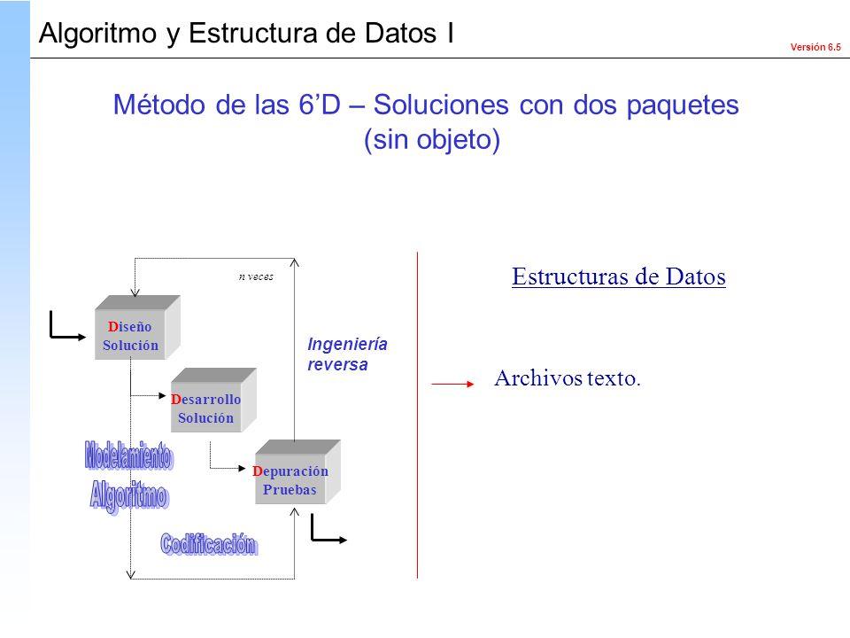 Método de las 6'D – Soluciones con dos paquetes
