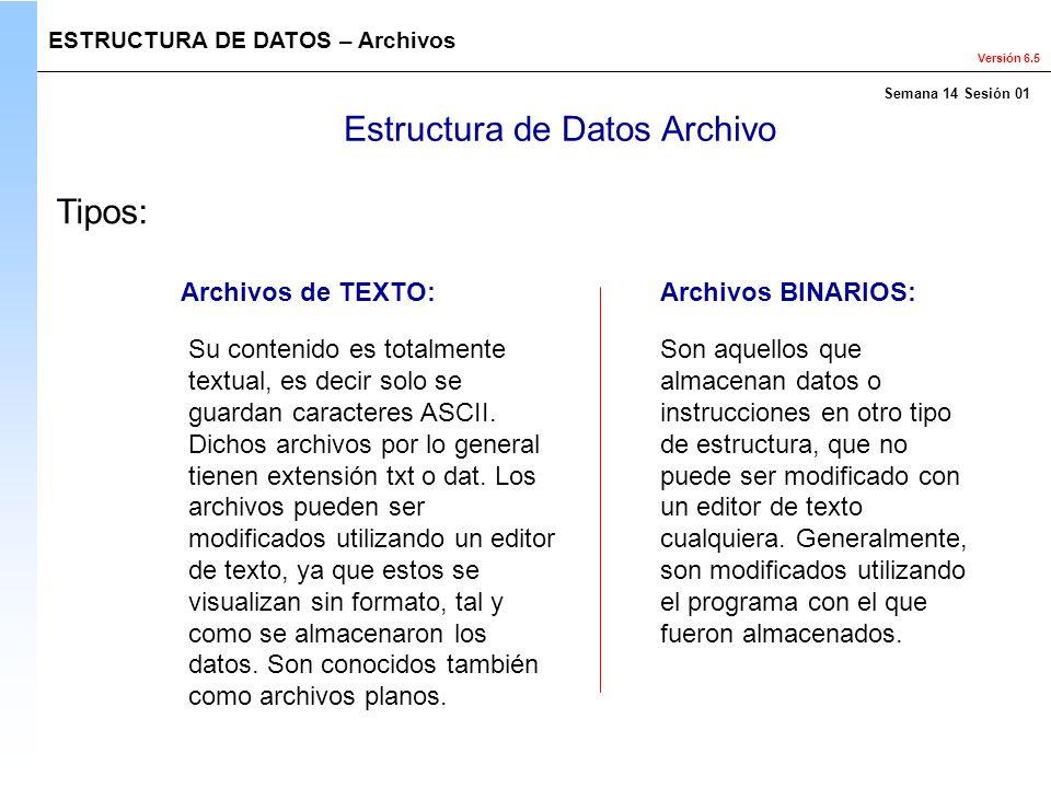 Estructura de Datos Archivo