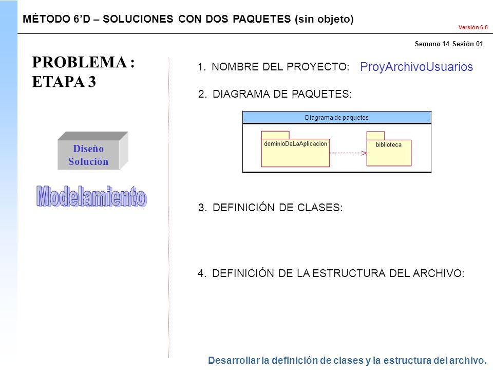 PROBLEMA : ETAPA 3 Modelamiento ProyArchivoUsuarios
