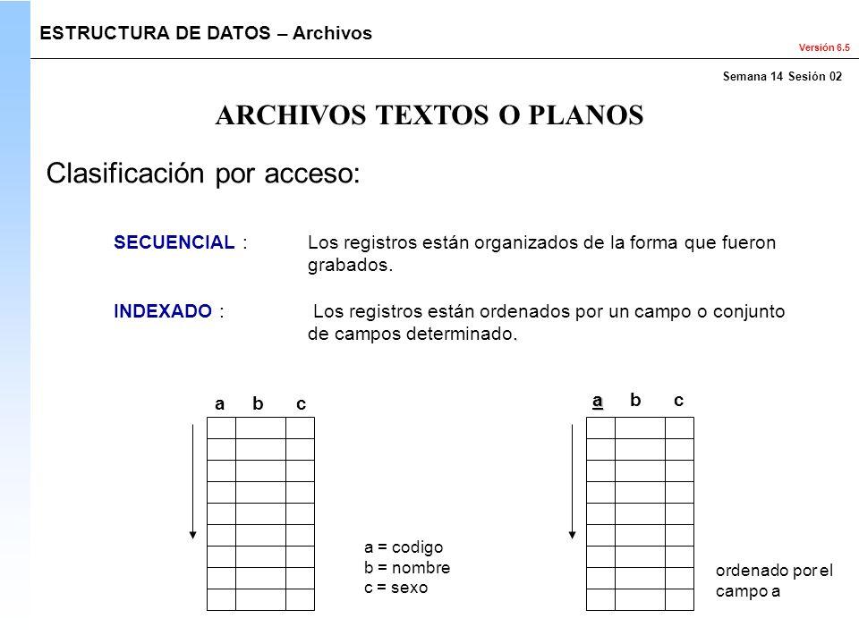 ARCHIVOS TEXTOS O PLANOS